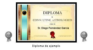 """Diploma: """"Superior de Consulting Astrológico"""""""