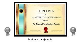 """Diploma: """"Máster de Esoterismo"""""""