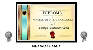 """Diploma: """"Máster de Parapsicología"""""""