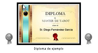 """Diploma: """"Máster de Tarot"""""""