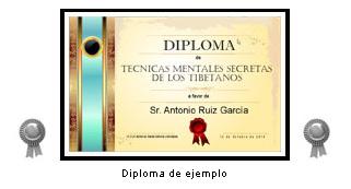 """Diploma: """"Técnicas Tibetanas"""""""